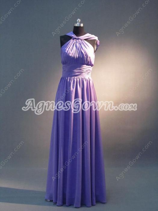 Elegant Lavender Maxi Bridesmaid Dresses