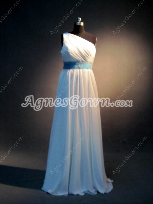 Tradition One Shoulder Chiffon Bridesmaid Dresses