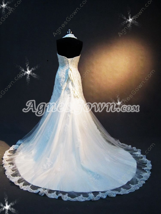 Romantic Sheath Halter Lace Bridal Gown with Corset