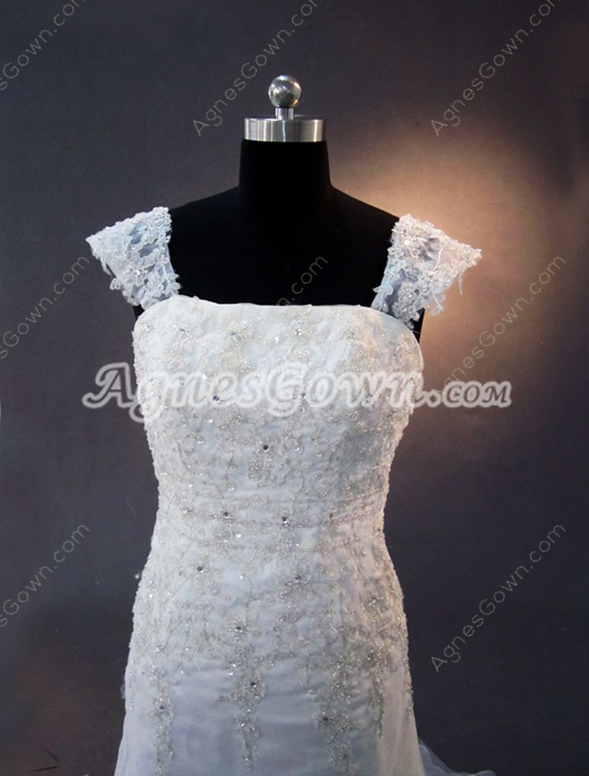 Glamorous Sheath Lace Wedding Dresses