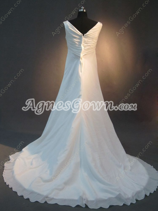 Evening V-Neckline Empire Beach Maternity Wedding Dresses