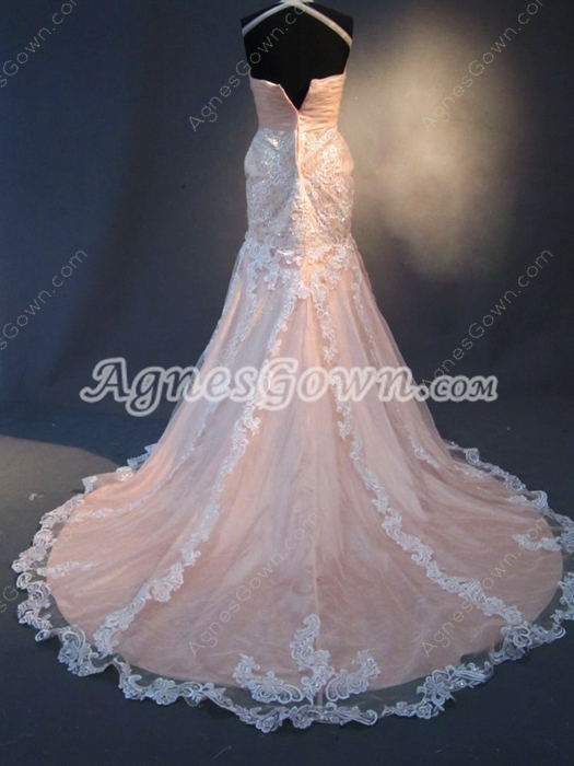 Beautiful Halter Mermaid Wedding Dresses With Appliques