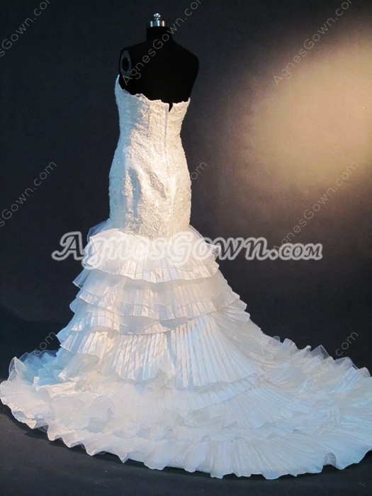 Romantic Sweetheart Fitted Lace Wedding Dresses