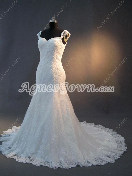 Brilliant Trumpet Lace Wedding Dresses