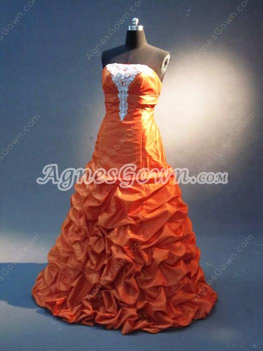 Best Orange Taffeta Military Ball Dresses