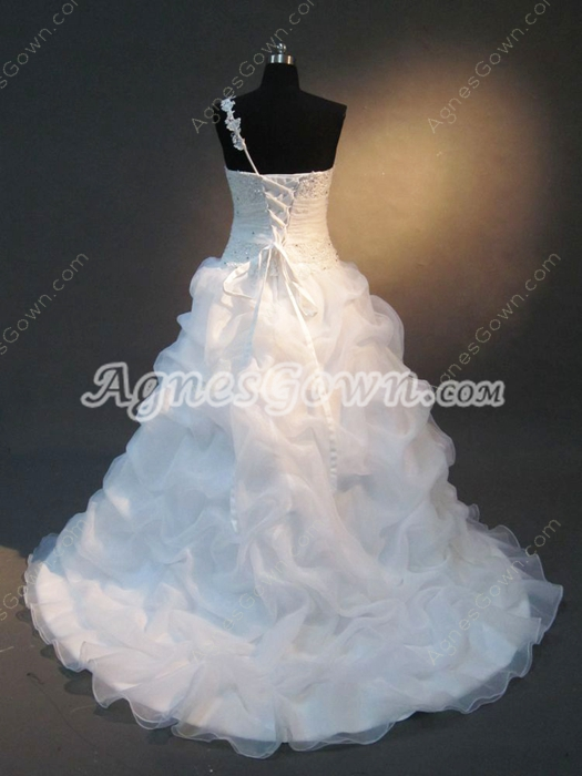 Pretty One Shoulder Wedding Dresses Princess Ball Gown