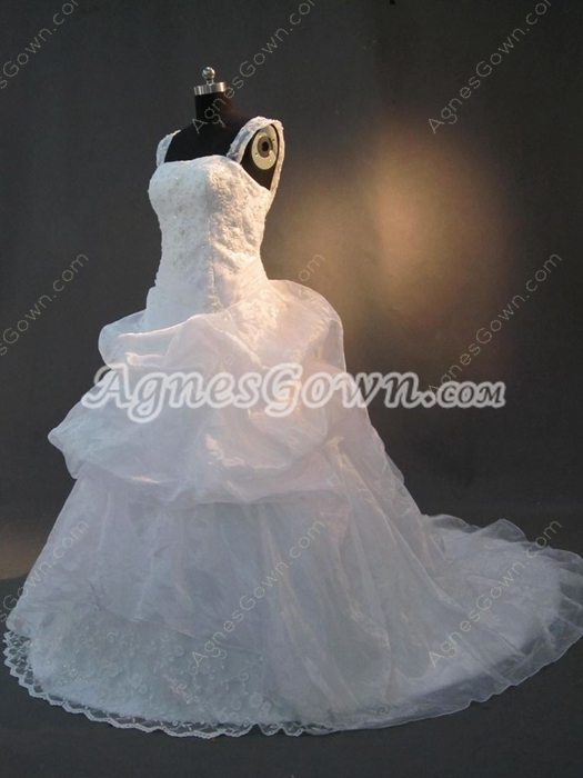 Traditional  Straps Sweetheart Plus Size Wedding Dresses