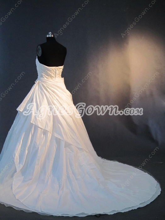 Beautiful Strapless Taffeta Wedding Dresses