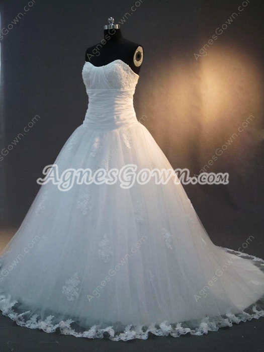 Beautiful Sweetheart Ball Gown Wedding Dresses