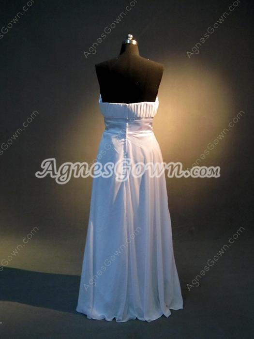 Simple Strapless Chiffon Plus Size Bridesmaid Dresses