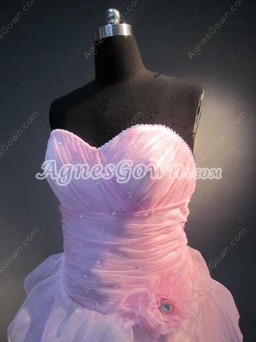 Simple Pink Sweetheart Plus Size Sweet 15 Dresses