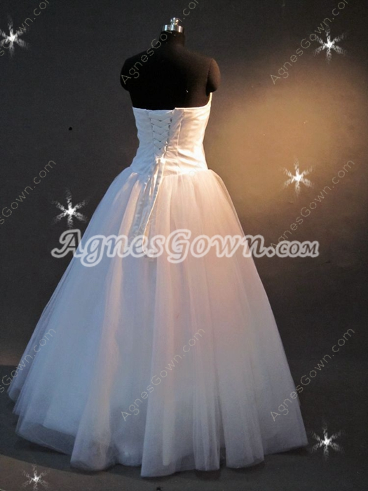 Stunning Strapless Long Plus Size Quince Gown