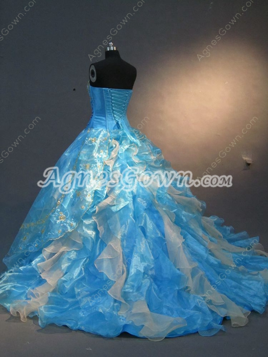 Unique Princess Court Quinceanera Dress with Ruffles