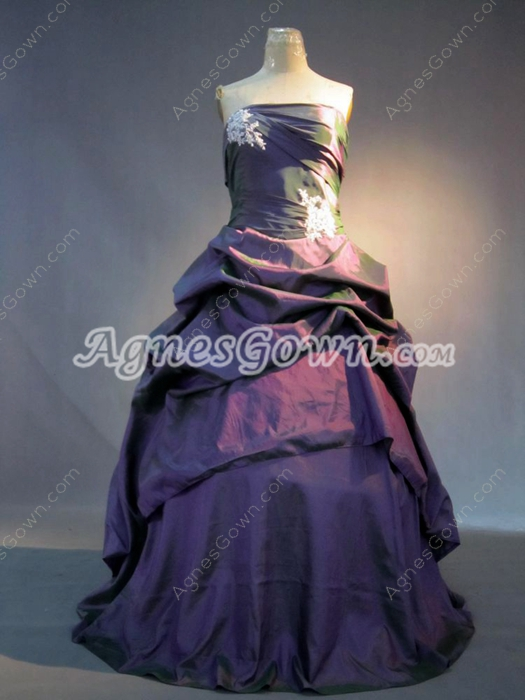 Cheap Grape Plus Size Quinceanera Dresses