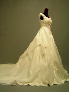 Modest Off Shoulder Scoop Bridal Gown
