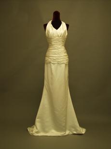 Simple Halter Sheath Beach Wedding Dresses
