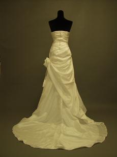 Simple Strapless Taffeta Plus Size Wedding Dresses