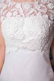 Illusion Neckline A-line Wedding Dress