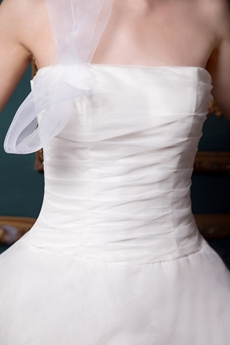 Breathtaking Ivory Organza Wedding Dress Multi Layered