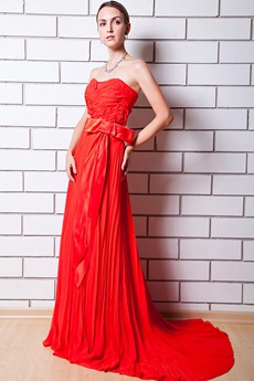 Stunning Red Engagement Evening Dress