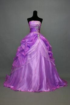 Charming Lavender Quinceanera Court Dresses With Rosette