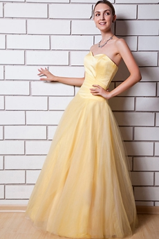 Pretty Daffodil Yellow Princess Sweet 15 Dress