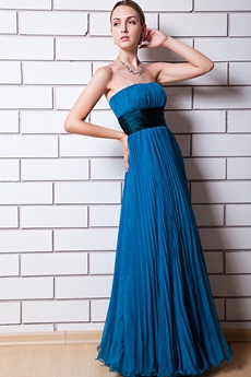 Turquoise Chiffon Plus Size Bridesmaid Dress