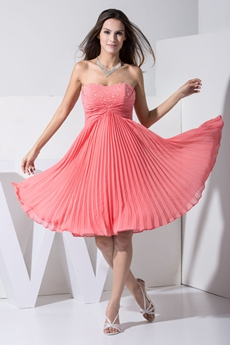 Perfect Peach Chiffon Bridesmaid Dresses For 8th Grade