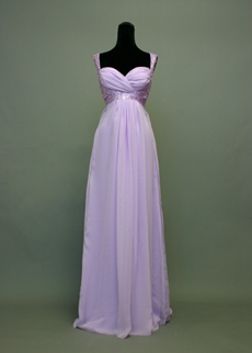 Charming Empire Lavender Plus Size Bridesmaid Dresses With Sequins