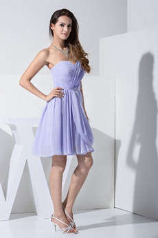 Lovely Lavender Short Homecoming Dress