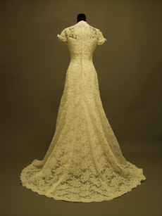 Vintage Lace Wedding Gowns With Short Sleeves