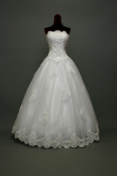 Beautiful White Strapless Quincenera Dresses