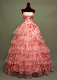 Beautiful Peach Princess Quinceanera Dresses