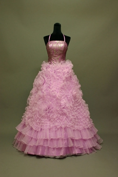 Lilac Floral Quinceanera Dress