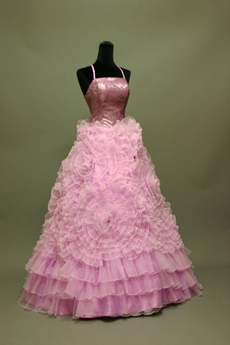 Lilac Floral Quinceanera Dress