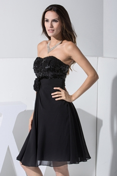 Elegant Little Black Dresses With Sequins