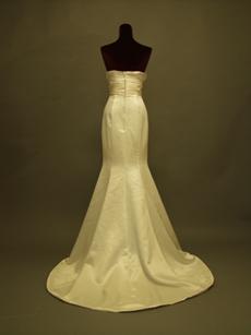 Beautiful Strapless Satin Trumpet Wedding Gowns