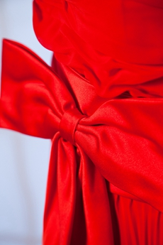 Column Red Chiffon Junior Prom Party Dress