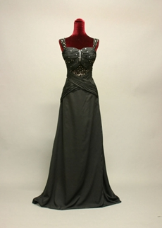 Modest Black Long Prom Dresses for Plus Size