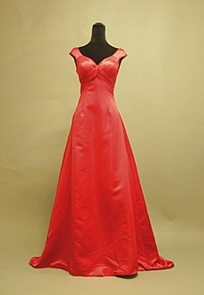 Glamorous Long Red Satin Evening Dresses