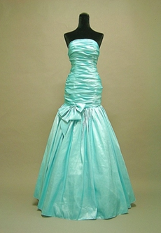 Charming Blue Strapless Graduation Dress