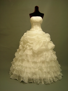 Traditional Strapless Ball Gown Quinceanera Dress