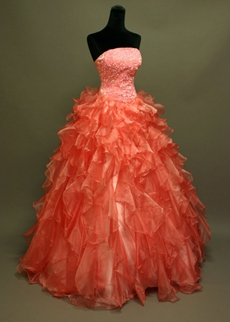 Beautiful Coral Quinceanera Dresses for Sale