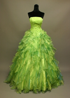 Beaded Lime Green Quinceanera Dresses