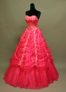 Best Fuchsia Sweetheart Quinceanera Dress