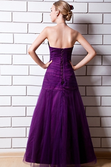 Charming Sweetheart A-line Purple Sweet Sixteen Dress With Beads