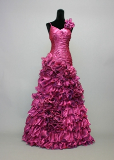 Luxurious Fuchsia Evening Dress