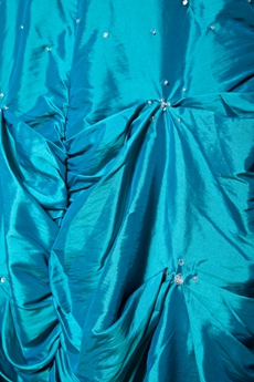 Beaded Taffeta Turquoise Long Sweet Sixteen Dress