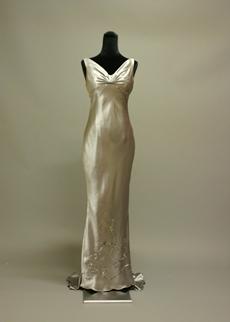 Simple Silver Grey Sheath Evening Dress