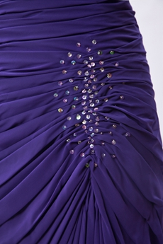 Column Knee Length Violet Wedding Guest Dress